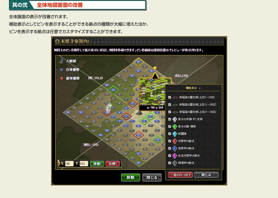全体地図画面の改善
